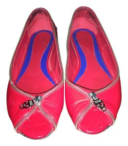 Alexander McQueen Red patent leather Flats