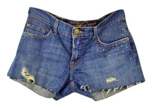bebe Embellished Shorts Medium Wash