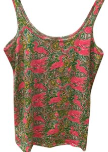 Lilly Pulitzer Top Flamingo pattern/pink
