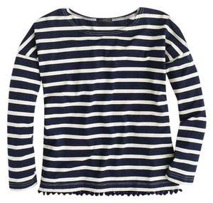 J.Crew Stripes T Shirt Navy and White