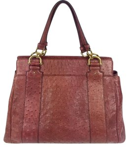 Gucci Ostrich Leather Prada Prada Tote in burgundy