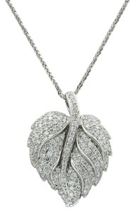 2.75 Carat T.W. Diamond Leaf Pendant set in 18Kt White Gold
