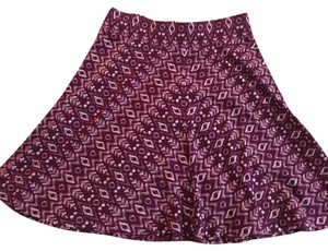 Ann Taylor LOFT Skirt Magenta with white details
