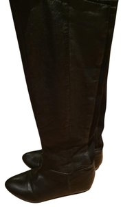 Steve Madden Leather Leather Knee High Black Boots
