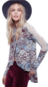 Free People Noveau Sz Sm Snow Combo Top