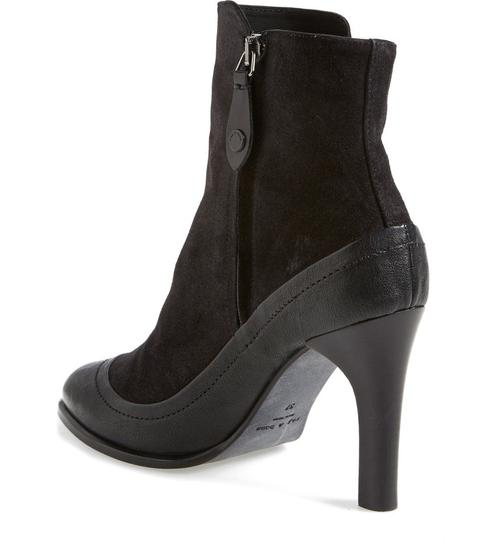 Rag & Bone Black Leather Suede Boots Image 2