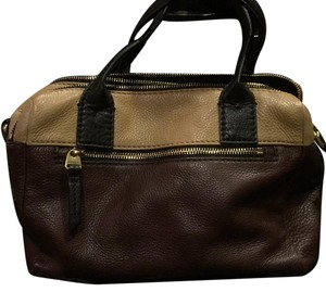 Fossil Satchel in Multi Brown