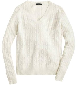 J.Crew Cable Knit Vneck Sweater