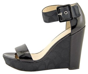 Coach Wedge Leather Platform Wedges