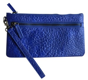 Shiraleah Vegan Leather Zipper Wristlet in Cobalt Blue