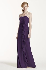 David's Bridal Purple David's Bridal Front Ruffle Dress Size 8 Dress