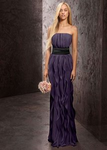 Vera Wang Bridal Purple Vera-wang-strapless-crinkle-chiffon-bridesmaid-dress-size-8 Vera-wang-strapless-crinkle-chiffon-bridesmaid-dress-size-8 Dress
