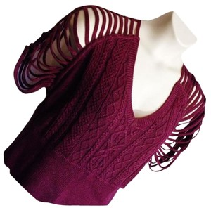 Rocawear Shimmer Cold Shoulder Sexy Date Night Strappy Sweater