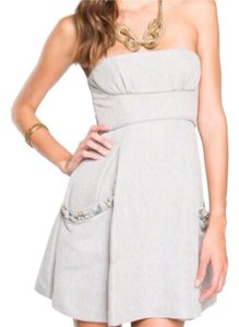 BCBGMAXAZRIA Studded Strapless Strappy Dress