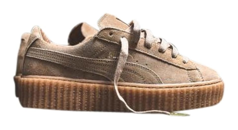 sports shoes 31fcb 51a82 Puma Brown New Rihanna Fenty Creeper Black Oatmeal Color Og Womens Sneakers  Size US 7