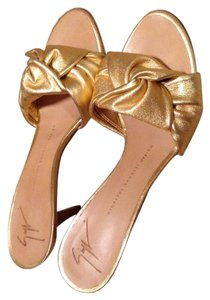 Giuseppe Zanotti Metallic pinkish gold Formal