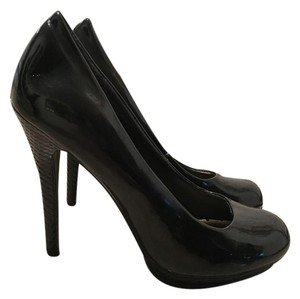 Sarah Jayne Formal Prom Patent Leather Party black Pumps