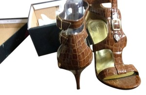 Michael Antonio Brown Patent Leather Sandals