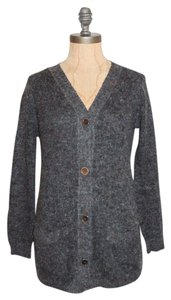 Étoile Isabel Marant Hairy Stretchy Cinder Mix Knit Cardigan