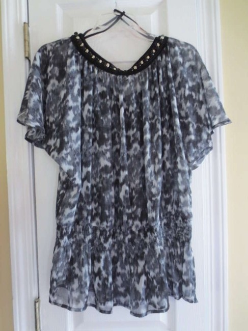 MICHAEL Michael Kors Top Gray trimmed with black