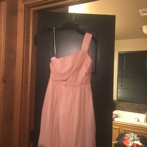 J.Crew Pink Chiffon Feminine Bridesmaid/Mob Dress Size 2 (XS)