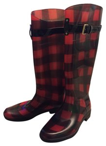 Ralph Lauren Red/black Boots