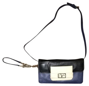 Diane von Furstenberg Blue, Black, Cream Clutch
