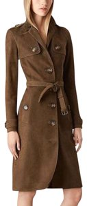 Burberry Military Jacket Suede Peplum Trench Coat