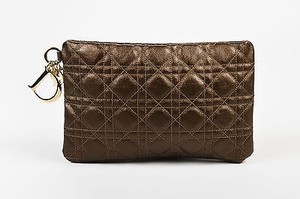 Dior Christian Coated Bronze Clutch