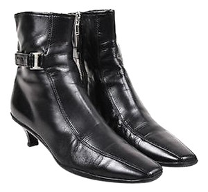 Prada Sport Leather Black Boots