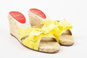 Christian Louboutin Yellow Beige Sandals
