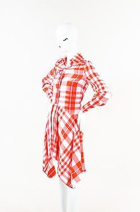 Stella McCartney short dress Red White Plaid Collared Button Down Ls on Tradesy