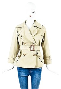Dolce&Gabbana Dg Double Breasted Belted Cropped Trench Coat