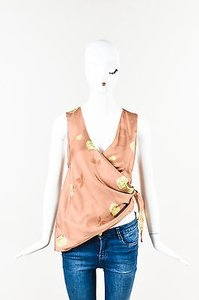 Marni Salmon Beige Silk Satin Top Pink