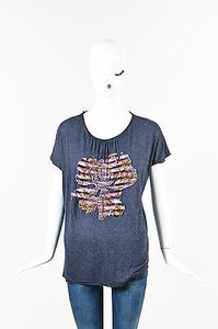 Missoni Mare Blue Gray Pink T Shirt Multi-Color