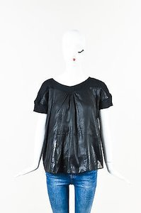Chloé Chloe Silk Chiffon Top Black