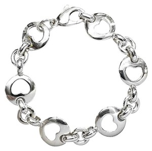 Tiffany & Co. Tiffany & Co Open Heart 1999 Link Bracelet Sterling Silver 7