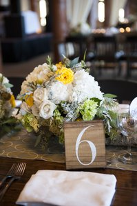 Wooden Table Numbers - Set Of 12 Plus Wire Easels.