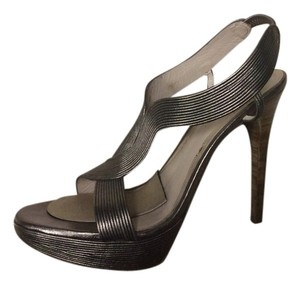 Elie Tahari Pewter Sandals