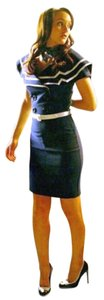 Bettie Page short dress NWT Blue Ombre Colorblock One Shoulder Bodycon on Tradesy