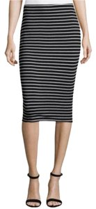 Vince Camuto Skirt Black and white striped
