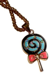 Betsey Johnson Betsey Johnson Lollipop Necklace Gold Tone J2973