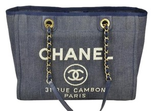 Chanel Denim Deauville Shoulder Bag
