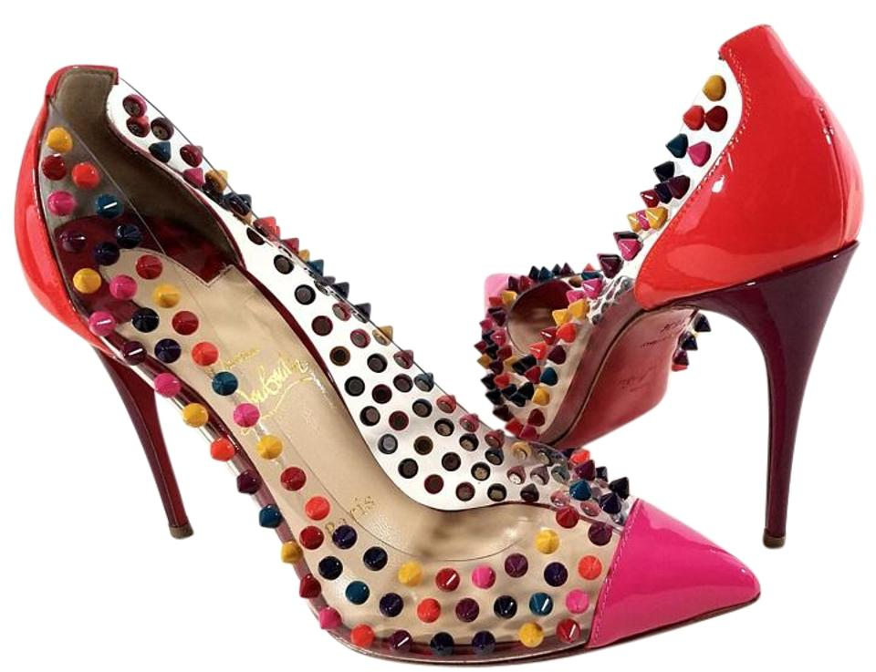 b584c42a15ce Christian Louboutin Multi-color Spike Me Pvc Pumps Size US 6.5 ...
