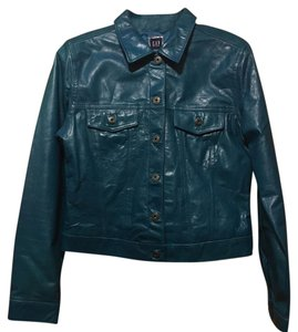 Gap Turquoise Leather Jacket
