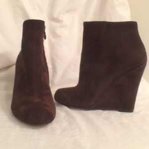 Sam Edelman Ankle Suede Leather Wilma Wedge Brown Boots