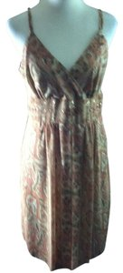 Bandolino short dress Brown Multi-Color Print Sleeveless Paisley on Tradesy
