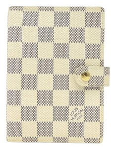 Louis Vuitton Louis Vuitton Agenda PM Damier Azur White Diary Ring Cover