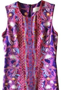 Peter Pilotto short dress Pink multi Stretch on Tradesy