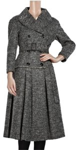 Burberry Wool Fall Winter Tweed Double Breasted Pea Coat